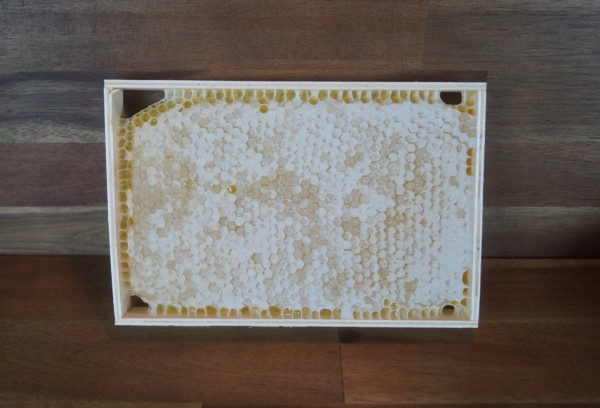 ganze Honigwabe im Holzrahmen, ca. 1kg