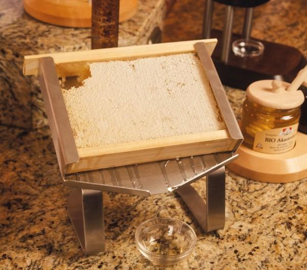 Edelstahlgestell für 1kg Honigwabe
